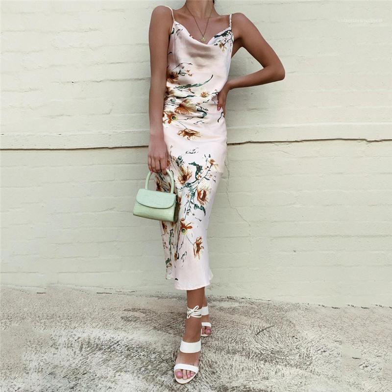Çiçek Elbise Kadın Uzun Boho Backless Bayan Modelleri Yaz Halter Tasarımcı Bohemian Beach Holiday
