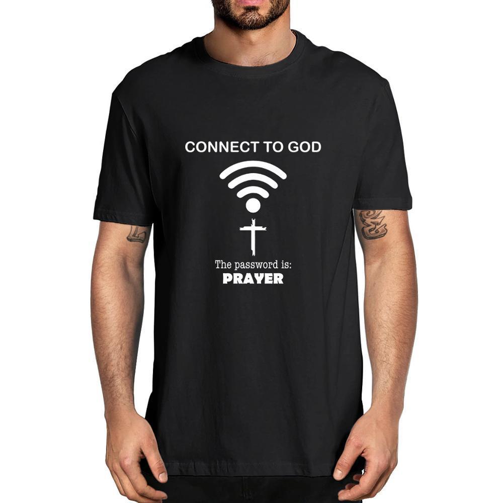 2020 top d'été de la mode Connexion à Dieu Le mot de passe est la prière Vintage T-shirt pour hommes XS-3XL
