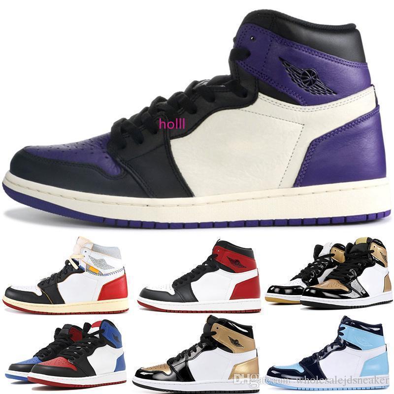Unc Couture 1 1s basquete sapatos para homens Mulheres Union Fantasma Multicolor Tribunal roxo Designer Mulheres 1 Sports Sneakers 5.5-13