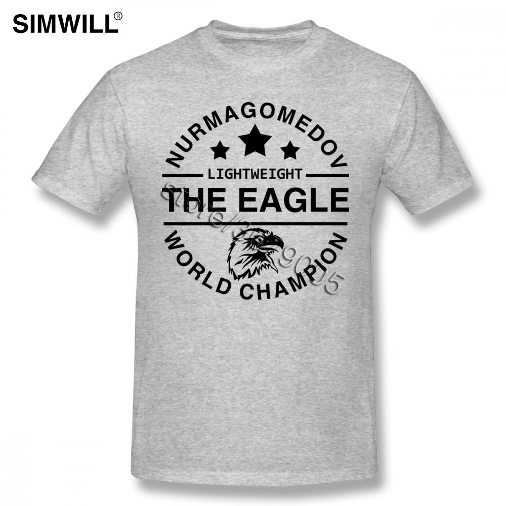 The Eagle Shirts personnalité khabib nurmagomedov T-shirts manches courtes 100% coton d'été T-shirts ras du cou Ventilateurs d'homme