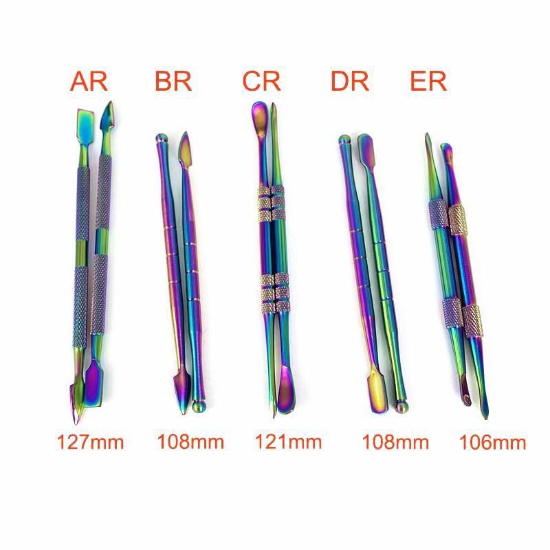 5 Art bunte 106mm-127mm Metall Dab Werkzeug Jar Raucher Werkzeug für Wachs Dry Herb Vaporizer Pen Edelstahl-Nagel-Wasser Bong Dabber Werkzeuge