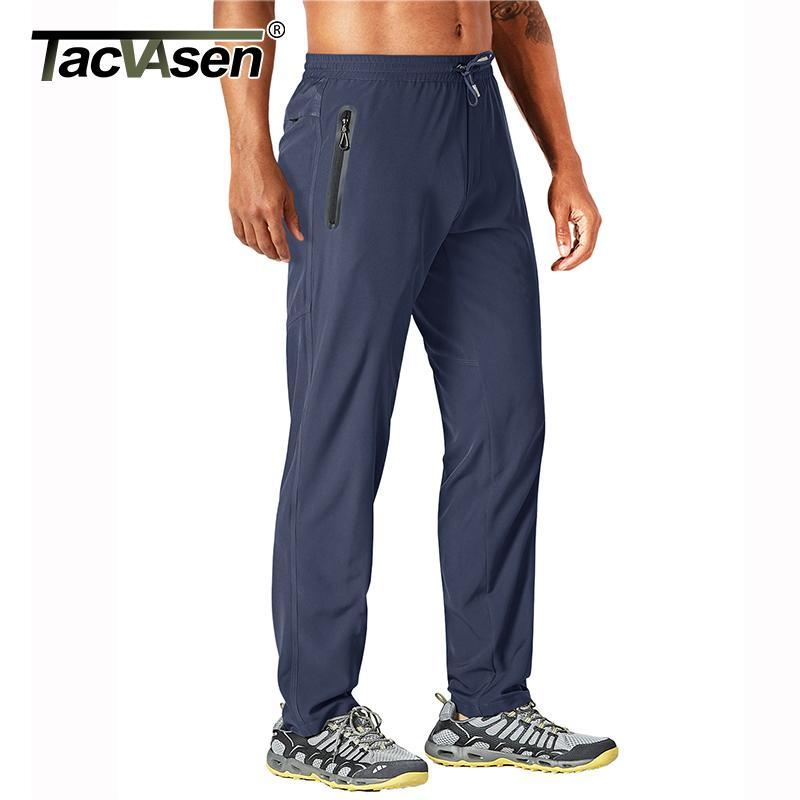 TACVASEN Pantalons Outdoor Hommes Quick Dry Courir droite pantalons de randonnée élastique Lightweight Yoga Fitness exercice Sweatpants Joggers