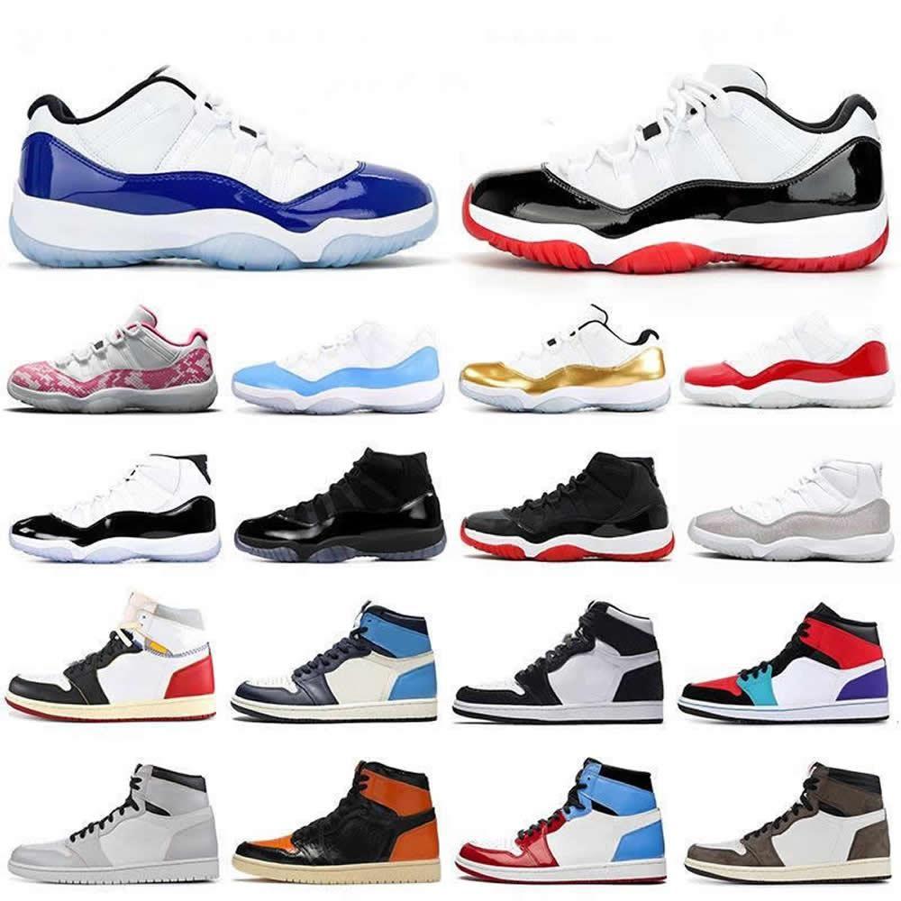 Мужские 11 11s Мужские баскетбол Concord 23 Новый Бред колпачок и платье пространство Jumpman Concord 1 Мужские Спортивные тренажеры кроссовки обувь 5.5-13