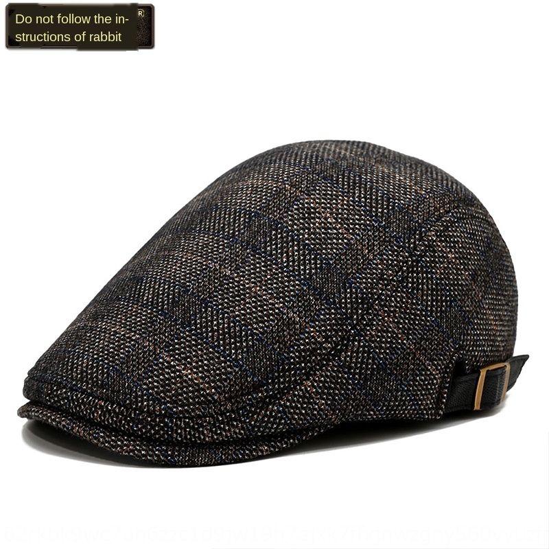 YHgFL Gedesen 2020 sonbahar ve kış Yeni İngiliz kap erkek bere bere şapka hepsi maç ekose