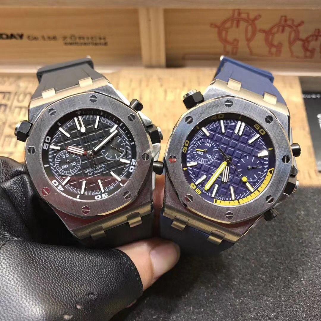 Melhor qualidade superior relógio de quartzo para homens relógios do relógio colorido Rubber Strap Esporte VK Chronograph relógio de pulso