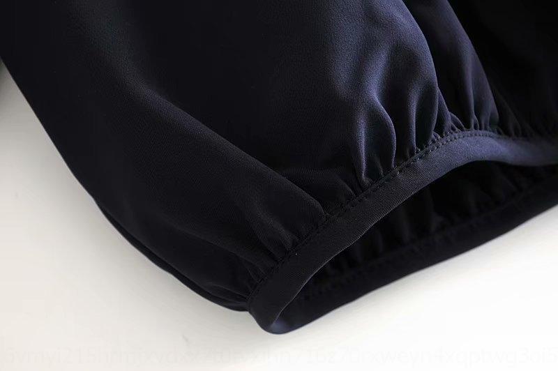 T7wDo 58Rln 47DN-7695 vestiti 2020 autunno e primavera Nuovo nastro vestito camicia linea aperta Camicia polsino nastro del nastro delle donne