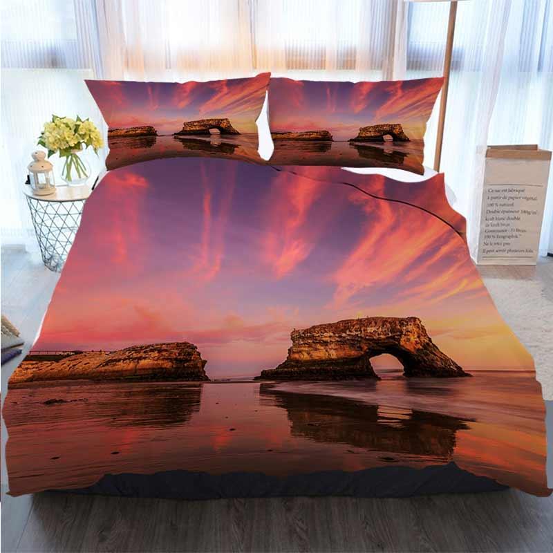 3D-Designer Bettwäsche-Sets Natural Bridge Santa Cruz Bettbezug Designer Bed Comforters Sets