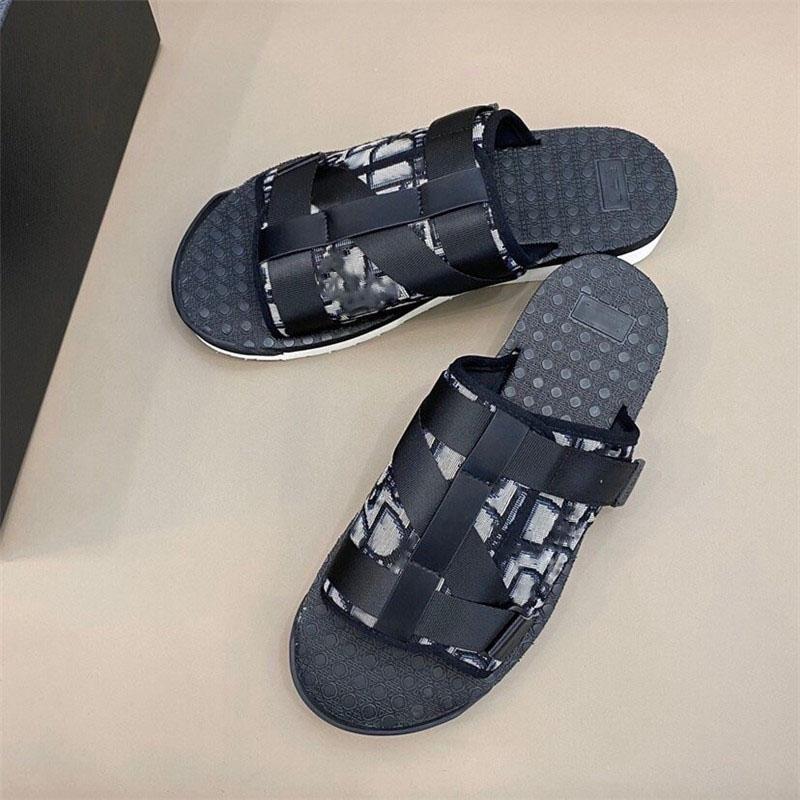 2020 nuovo modo degli uomini di colore ALPHA SANDALO IN OBLIQUO JACQUARD estate uomini pantofole fasce di nylon di gomma comoda suola graffi taglia 38-45