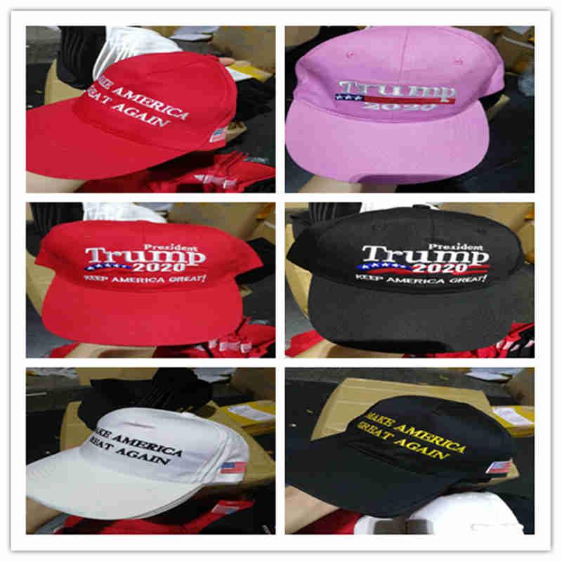 2020 yeni ABD kampanya koz şapkalar İşlemeli marka amerika büyük tekrar beyzbol şapkası şapka amerikan bayrağı bayraklar desenli siyah beyaz pembe kırmızı
