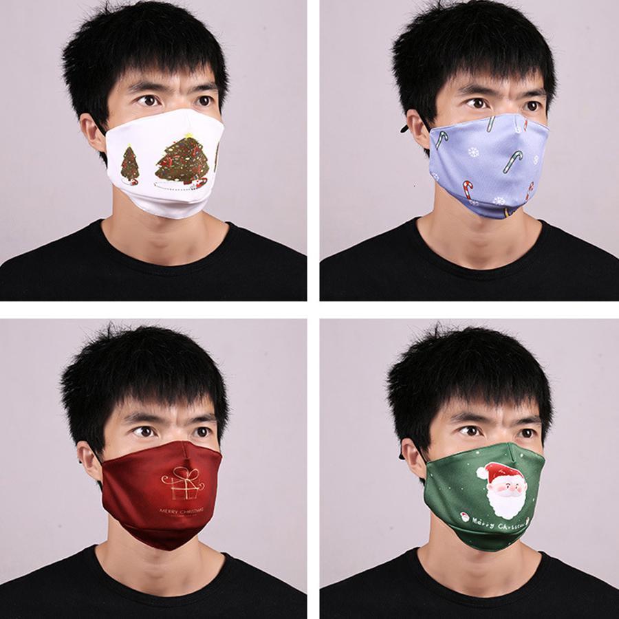 hommes visage sortie masque Fun modèle de Noël PM2,5 modèle personnalisé masque 3D avec 2 filtre anti-poussière et lavable anti-brume