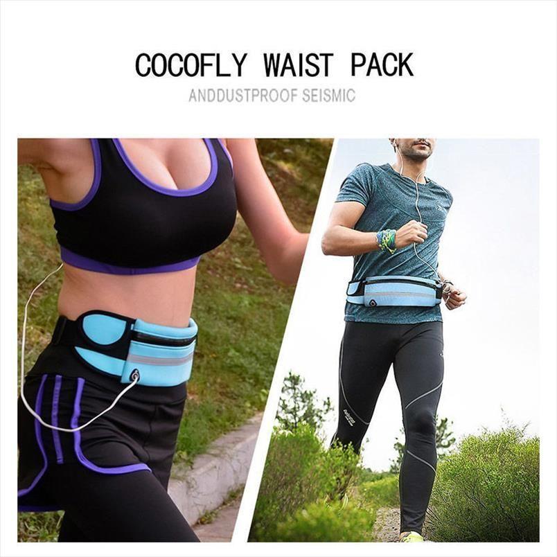 Men Waist Pack Cycling Sport Fashion Pack Belt Money For Running Jogging 2019 Waterproof Women Phones Running Belt Waist Bags Pbrrn