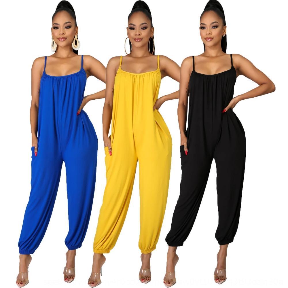 sAD81 9361 # 2020 pantalones sueltos de color sólido 9361 # pantalones sueltos de color sólido 2020 honda honda mono mono
