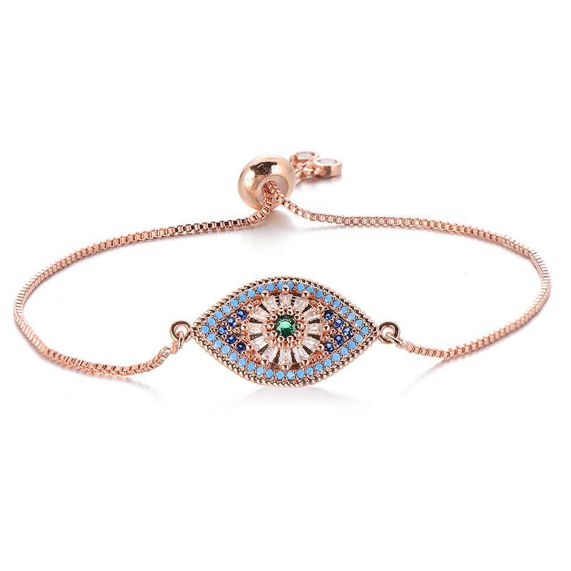 Pipitree Narin Prenses kesim Mavi Zirkon Nazar Bileklik Slider Zinciri Kadınlar Trendy Mücevher Pulsera için Charm Bilezikler