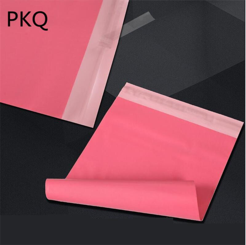 10 formati di 100pcs / lot Rosa di plastica posta Poli sacchetto Mailer autosigillante bollettino riempito Packaging Busta Courier bag