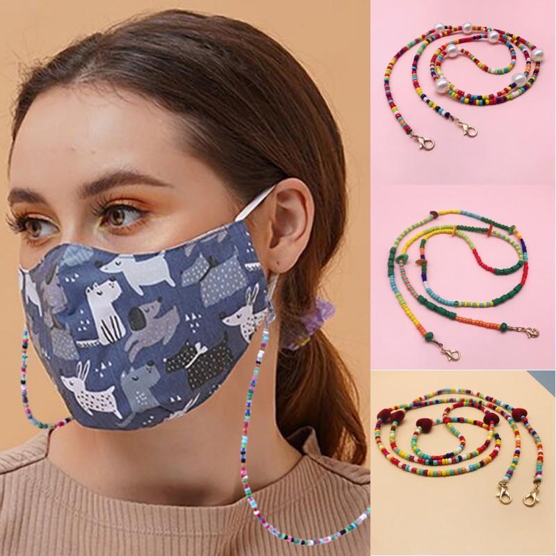 Máscara Facial Lanyard Handy Conveniente tampa de segurança Titular frisado Máscaras Corda Hanger confortável em torno do pescoço Resto Ear OOA8483