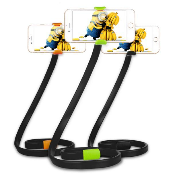 Cgjxs universale flessibile lunghe braccia porta cellulare Phoseat telefono spiccano serpente a forma di morsetto supporto pieghevole Auto letto Tabella selfie Mount B
