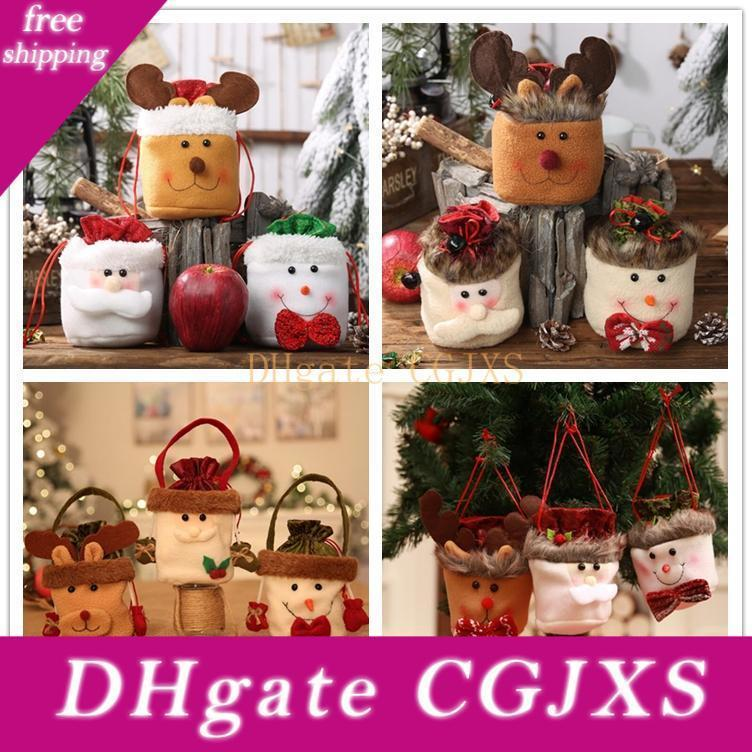 Weihnachtsgeschenk-Tasche Tragetasche für Kinder Beuter Heiligabend Apple-Tasche Weihnachtsbaum-hängende Verzierung Weihnachtsdekoration für Partei Jäten