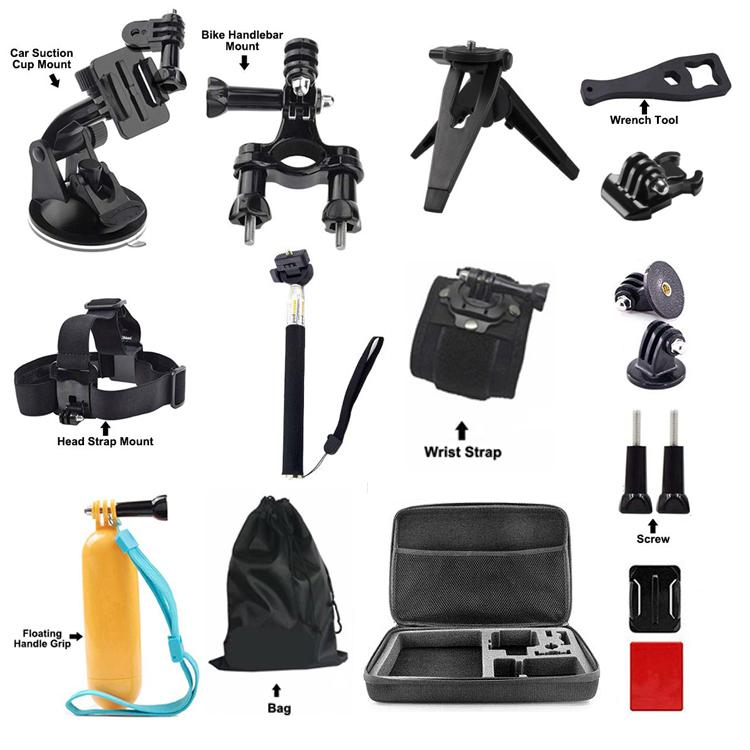 Gopro Accessories Kit For Go Pro Camera Floating Handle Grip Car Suction Cup Mount Strap For Action Camera Sports Cdp pro car