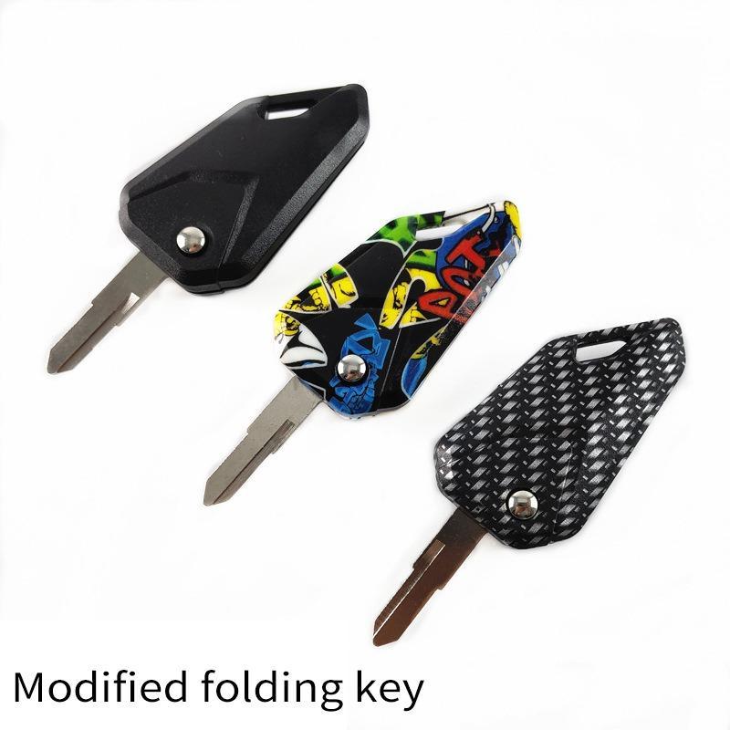 Pieghevole Moto capo chiave automaticamente apre l'anello chiave fai da te capo moto Embryo-reticolo Picc