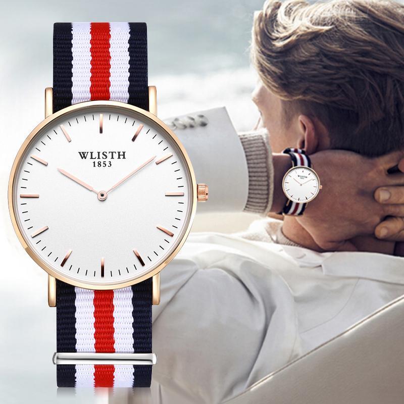 Neue amerikanische stil-einfache zwei pin dw watch Mode-Leinwand mit Liebhaber uhr grenzüberschreitender heißer stil
