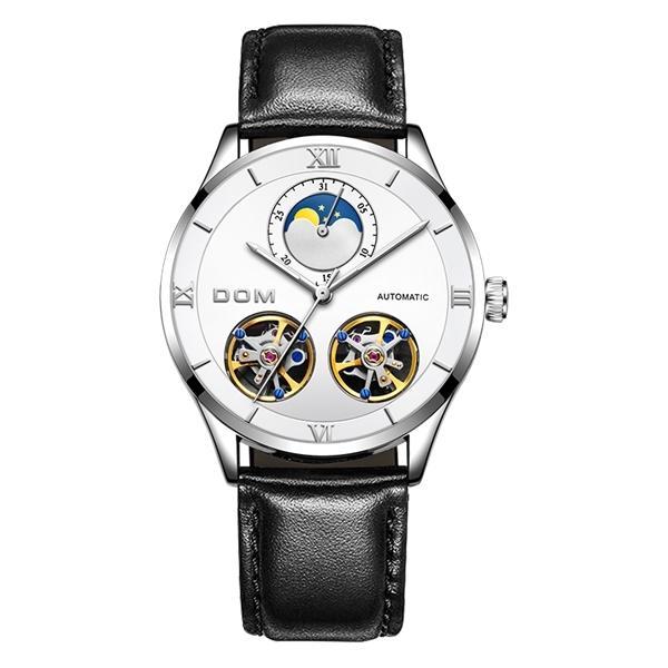 DOM Механические часы Мужские часы Скелет автоматические механические мужские часы водонепроницаемые автоподзаводом часы из нержавеющей стали мужчины 09:22