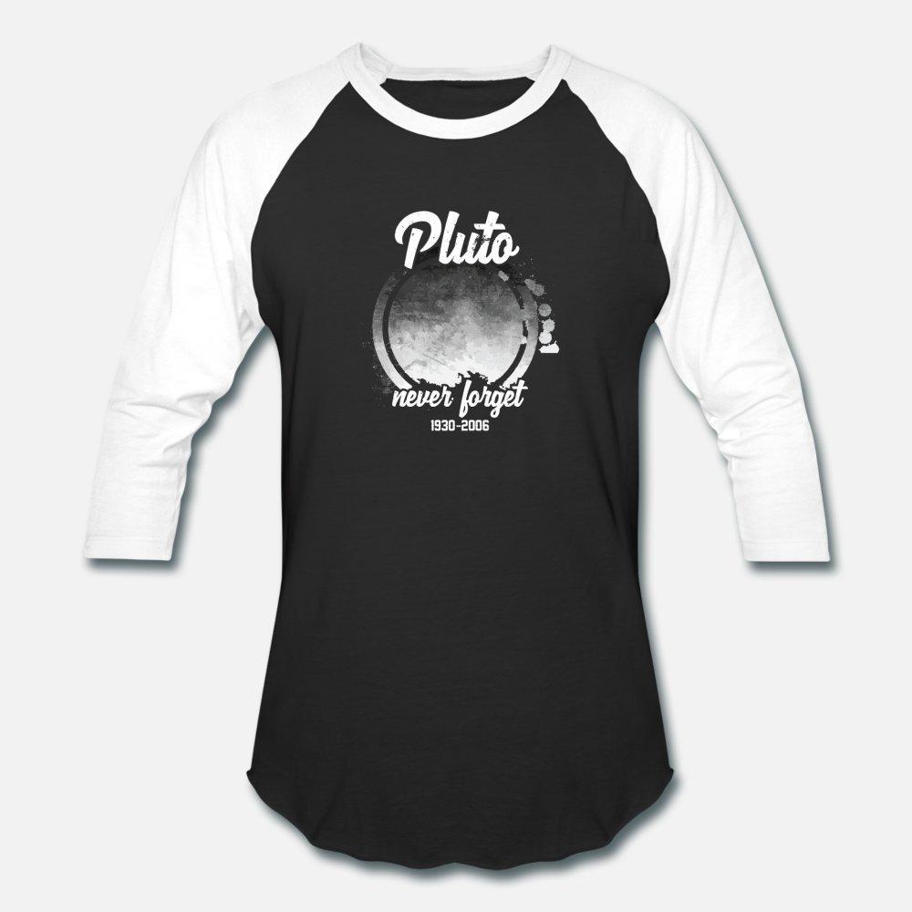 Non dimenticate mai pianeta Plutone 1930 2006 uomini della maglietta dell'annata della stampa della camicia corta Crew del collo standard Fit comico primavera originale