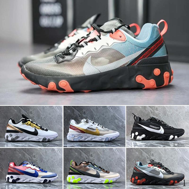 nike Air max Epic React Element 87  React Element 87 Undercover Men Running Shoes For Women Designer Sneakers Sports Mens Trainer Shoes Sail Light Bone Royal Tint YU-N5