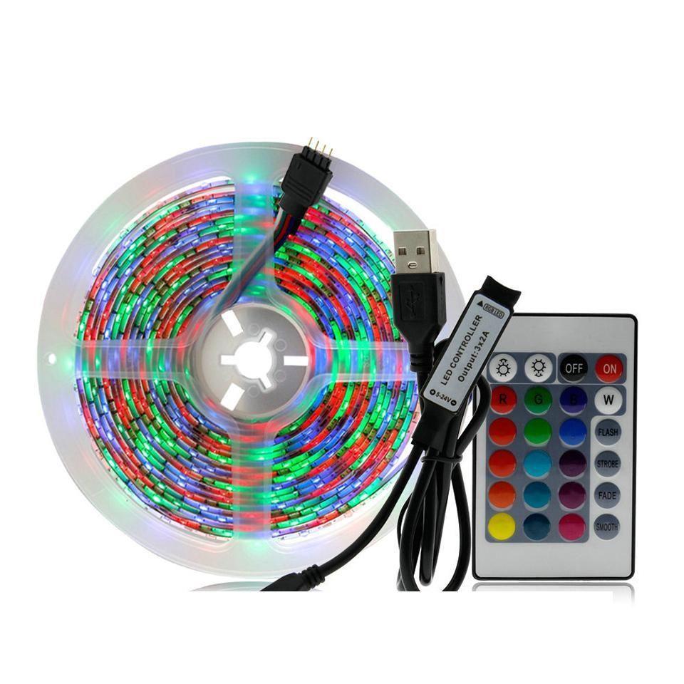 5V 2835 USB Şerit LED Işık 1M 2M 3M 4M 5M RGB Renkli TV Arkaplan Aydınlatma Decoracion Peri Işıklar