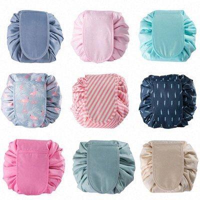 Frauen Kosmetiktaschen Tunnelzug Make-up Taschen Reisen bilden Beutel Organisator Mode-Speicher-Beutel-Handtaschen Schönheit Wash Bag Totes YFA670 4F9o #