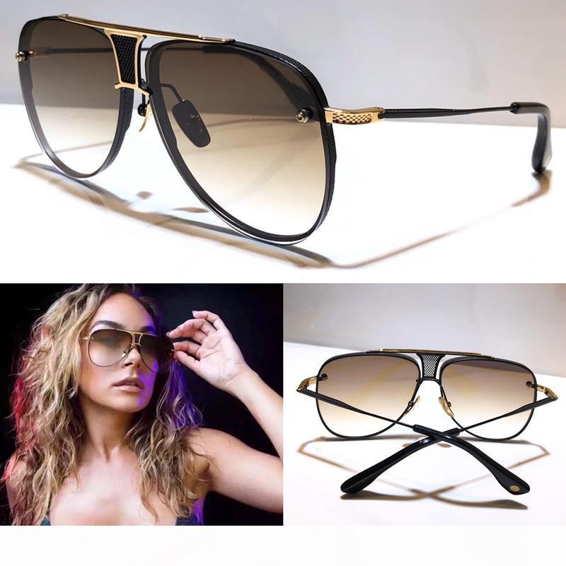 Yeni güneş gözlüğü erkek tasarımcı metal Retro güneş gözlüğü moda stil kare çerçevesiz UV 400 lens açık koruma gözlük ON YIL İKİ