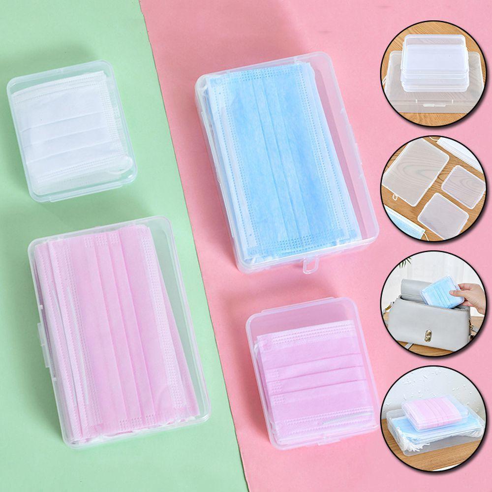 1шт Anti-пыли Пластиковые Прозрачный Protect хранения Box Контейнер Организатор Маска Case Высокое качество