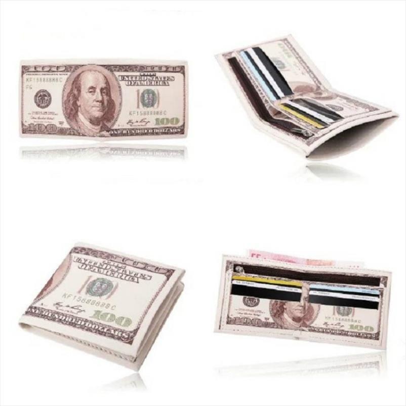 2019 Money Clip Men Women Pu Leather Paper Dollar Euro Short Wallet Slim Mini Purse 2 Fold Student Cheap Gift Coin Bag