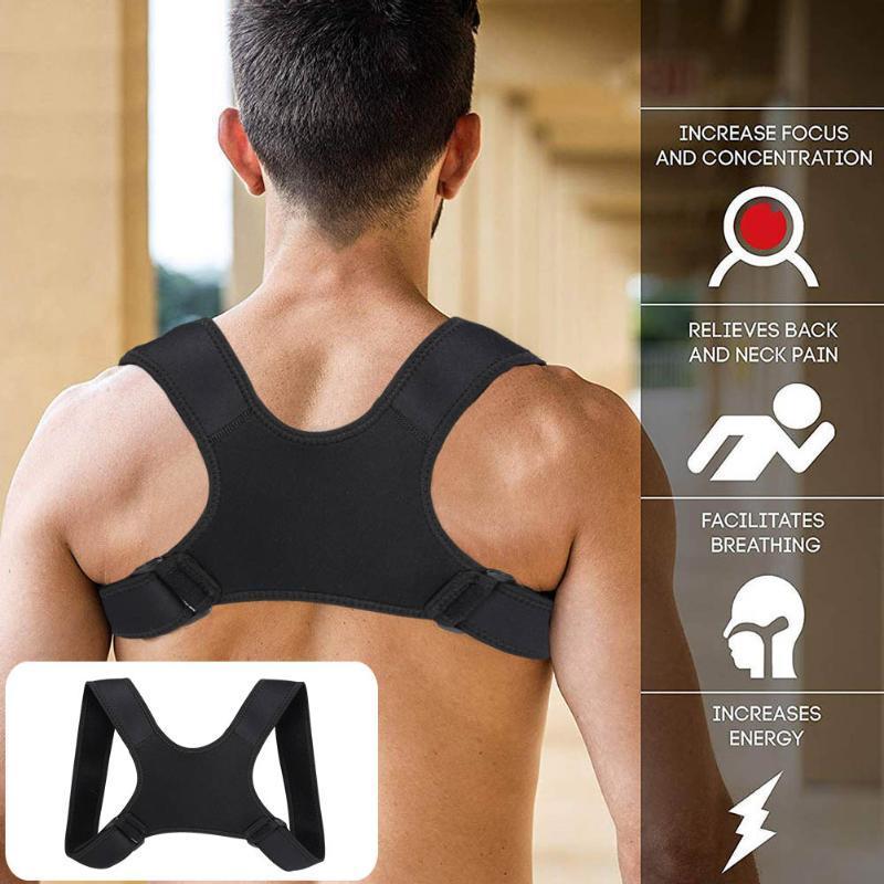 Kinder / Erwachsene Unisex Körperhaltung Korrektor verstellbare Rücken Fracture Unterstützung Clavicleweinlesehalskette Zurück Wirbelsäule Schulter Lendenwirbel Posture Korrektur