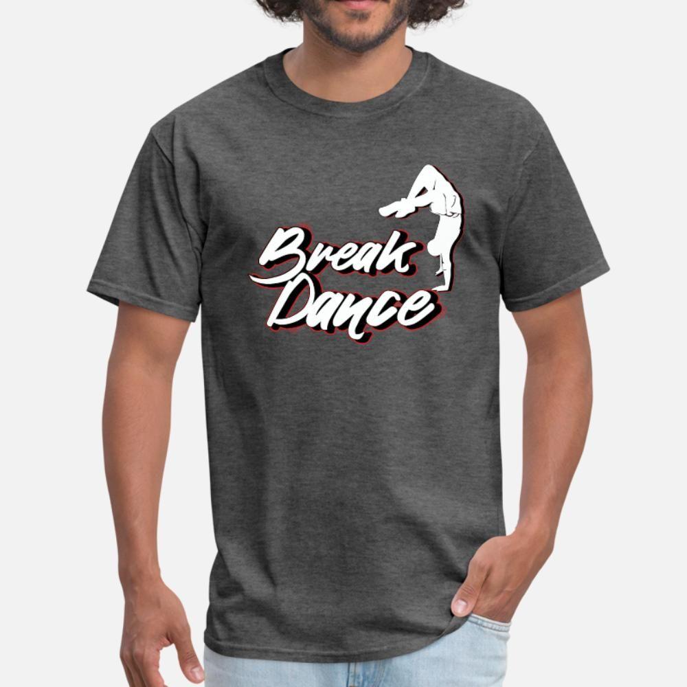 Брейк Streetdance Hip Hop тенниски мужчины Проектирование с коротким рукавом O-образный вырез тонкие графическое Повседневный Весна Формальная рубашка