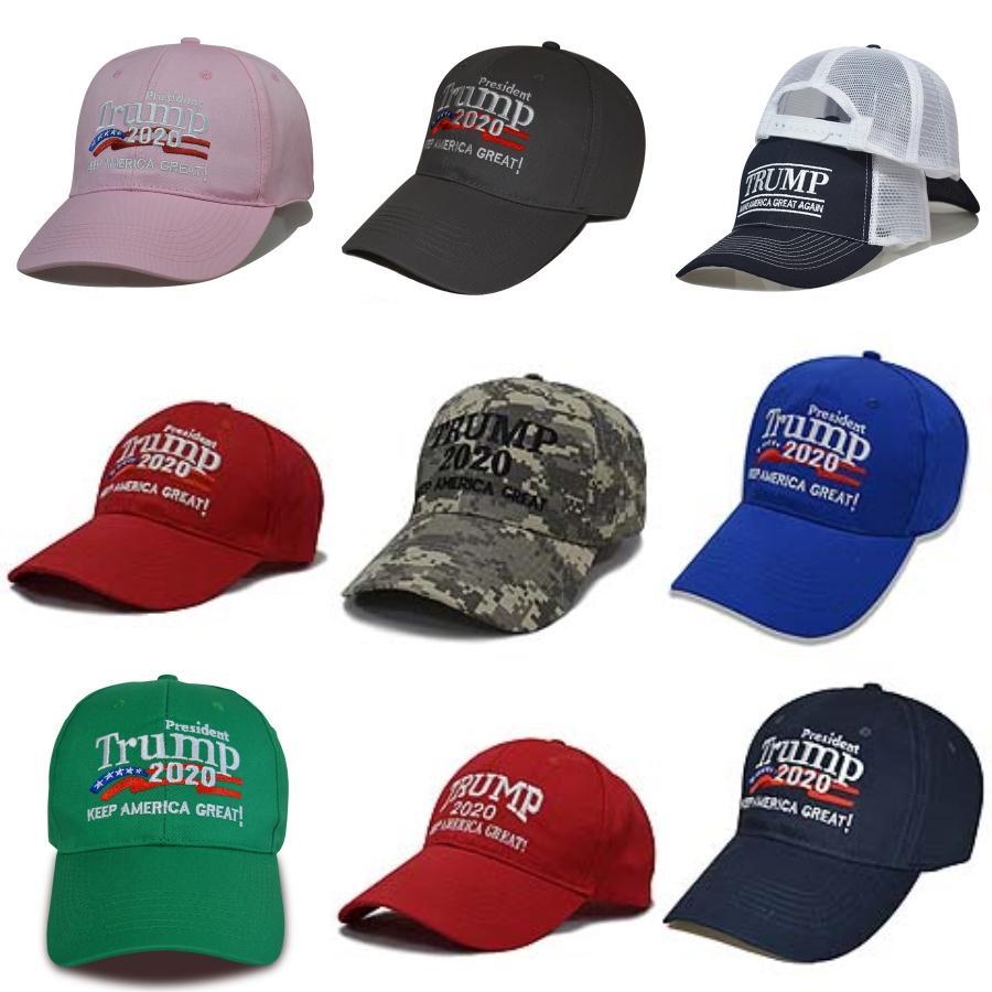 Президент Солнцезащитный Дональд Трамп Hat Trump Вышивание Регулируемая бейсболке Мужчины Женщины Хлопок американский флаг Snapback Hat EWB1240 # 577