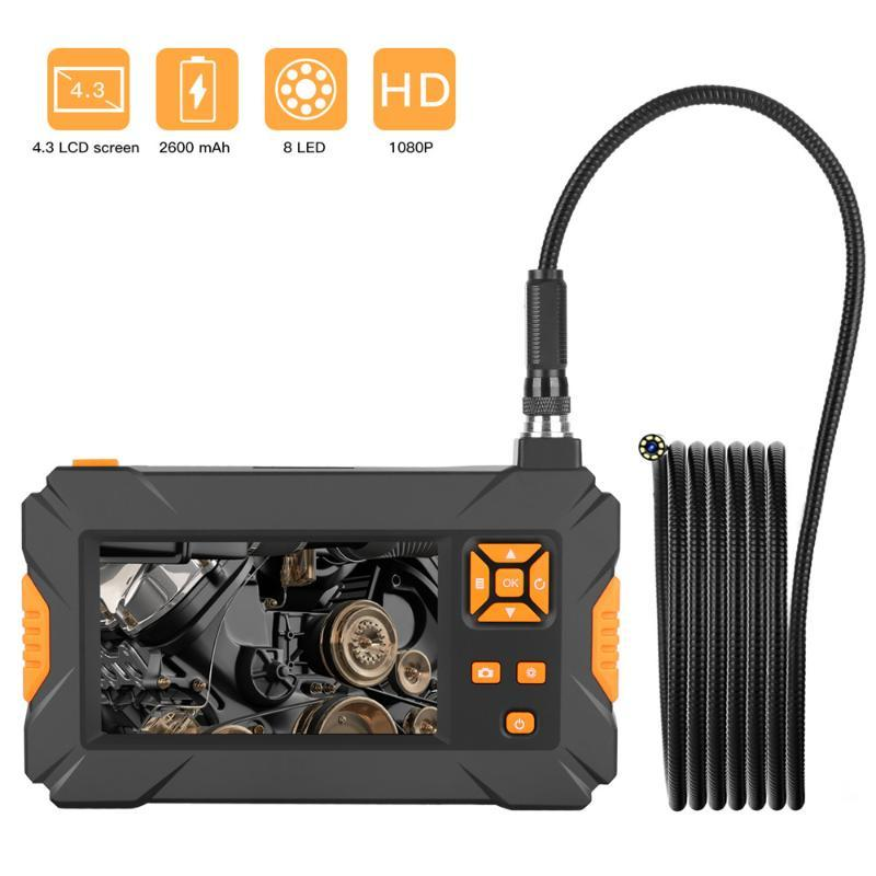 P30 Industrial Endoscope Digital Borescope 4.3inch HD LCD Camera Snake Tube 1080P Video Waterproof Inspection Camera Car Repair
