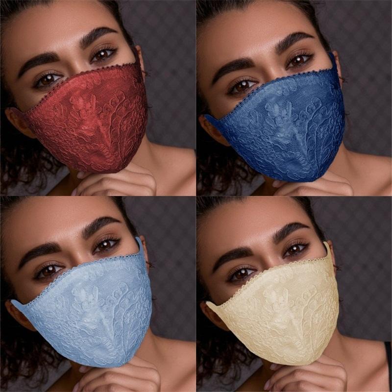 Dantel Katlanabilir Yüz Koruyucu Nefes Solunum Anti Toz mascarilla Good Looking Aşınma Direnci İyi Moda Kadın 3xy E2 Maske