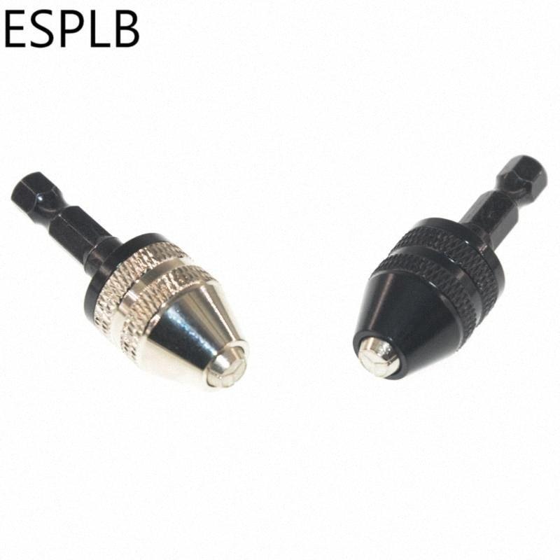 """ESPLB aluminium Drill Mini sans clé en alliage Bit Chuck Adaptateur tournevis 1/4"""" Hex Shank Fraises avec changement rapide Ig6j #"""