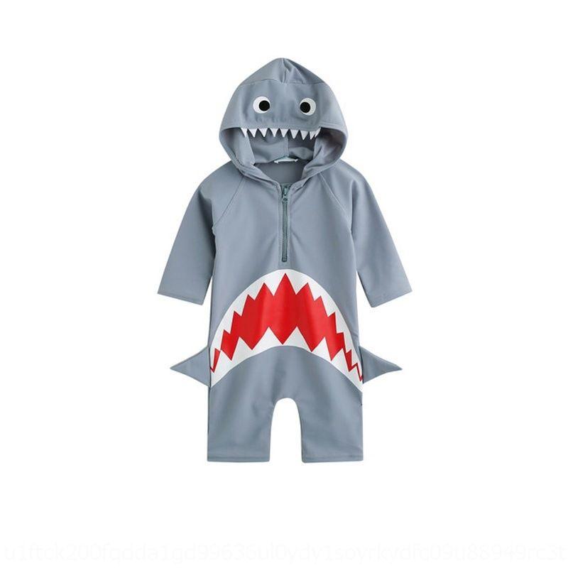de 31bR8 DKrfM Crianças coreano de uma peça de tubarão meninos bonitos e meninas de natação das crianças Calças Baby nadar Swimsuit troncos terno
