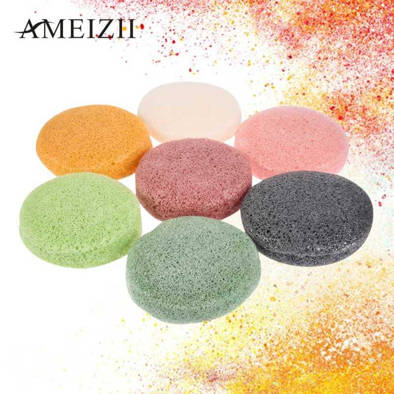Nettoyage konjac naturel éponge cosmétiques Puff visage souple éponge Powder Puff Nettoyant Visage laver Maquillage Flutter TSLM2