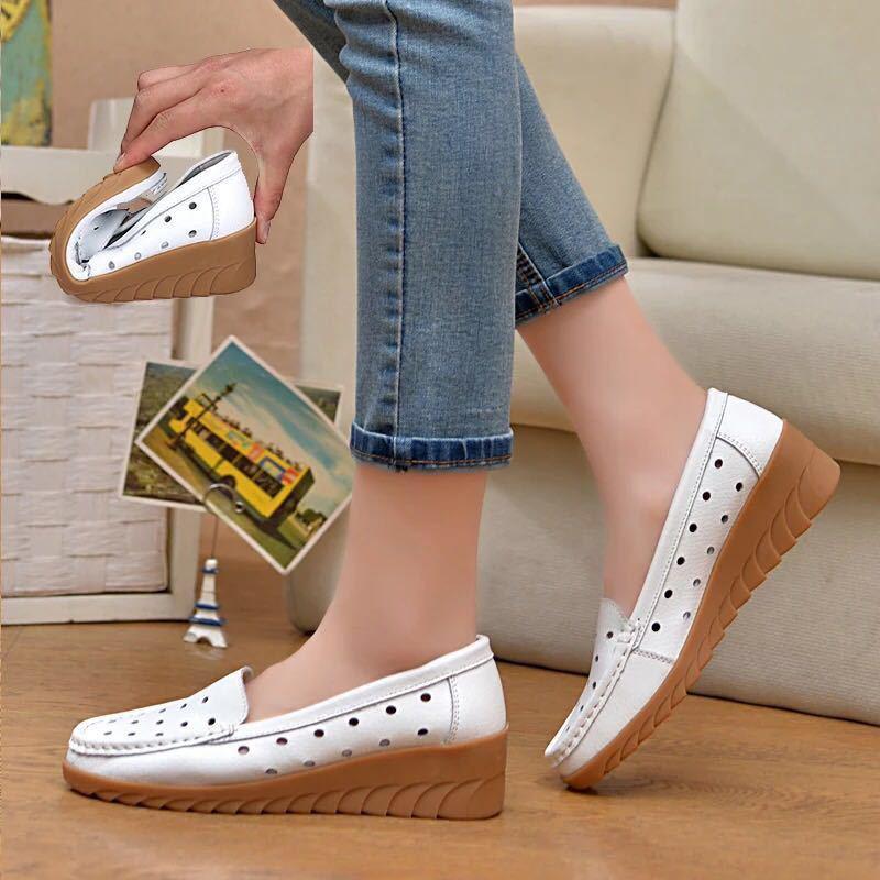 bale düz loafer'lar Büyük boy 35-41 bahar kadın daire ayakkabı kadın hakiki deri daireler bayanlar ayakkabılar kadın kesme kayma