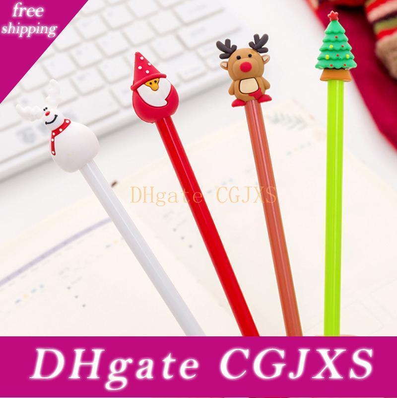 Christmas Gel Pens For School Office Santa Elk Snowman Gel Pens For Kids Gift School Supplies