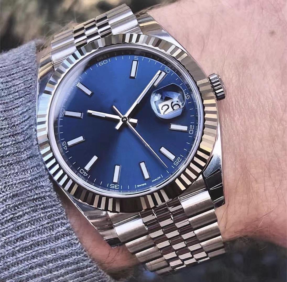 Мужские часы 41 мм Автоматическое движение Нержавеющая сталь Часы Мужчины 2813 Механический мужской дизайнер Дата просто смотрит на наручные часы