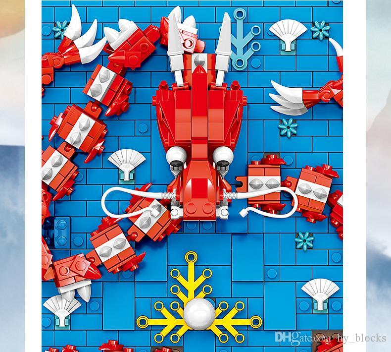 Als Tourismuskultur 9 Dragon Wandbild Architektur Struktur Straßenbau Weihnachten für Spielwaren Kinder anzeigen Chinesische Blöcke Geschenk 03 Pekfb