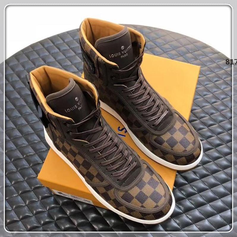 lüks tasarımcı 817 Lüks Erkek Ayakkabı Moda ile Menşei Kutusu Sneakers Moda Dantel-up Spor Rahat Erkek Marka Ayakkabı Yeni Geliş Boyutu 3