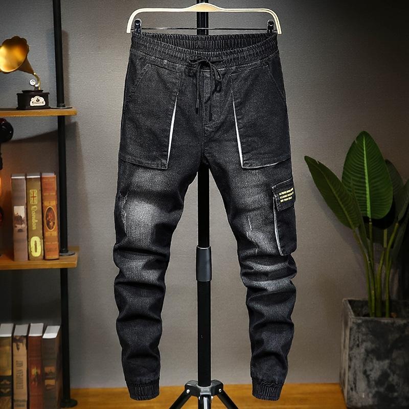 9xZsQ Sommer Enge im koreanischen Stil Größe Leggings verlieren Stretch und Harlans Männer trendy Denim-Hosen Herren-Jeans und Hosen Jeans