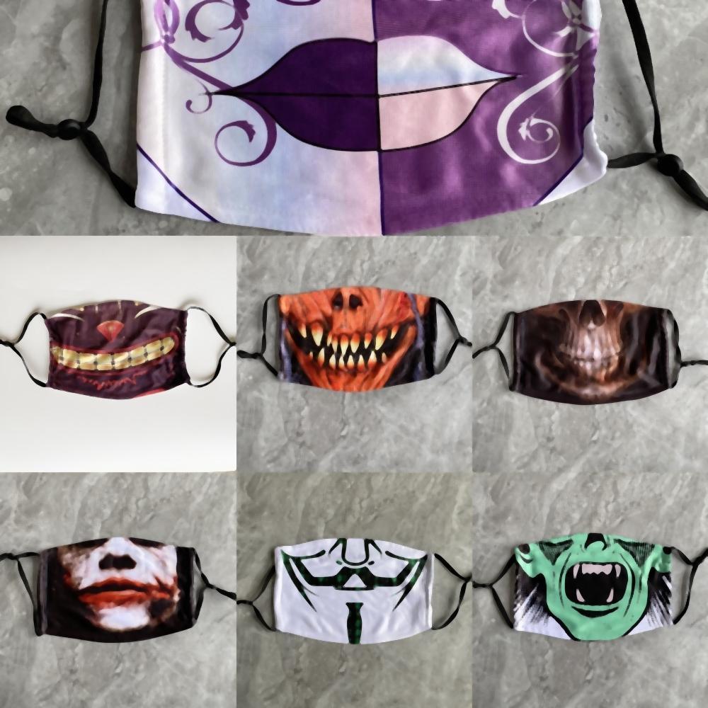 qARTU Partido Spoof palhaço Peking Opera Masquerade abóbora poeira Mulheres Máscara Cosplay Carnaval de Veneza Máscara anónima Máscara Natal