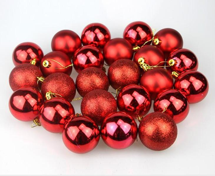 """24PCS 크리스마스 공 장식품 1.57 """"4cm 크리스마스 장식 트리 공 작은 비산 볼 홀리데이 웨딩 파티 장식 A11"""