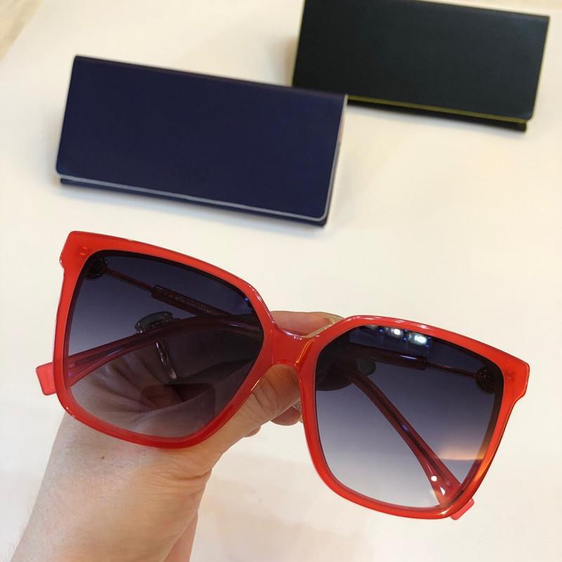 0340 Солнцезащитные очки Дизайнерская Женщины Deisnger Популярные Полный кадр UV400 объектива Летний стиль площади кадра Верхнее качество бесплатно Come With Case