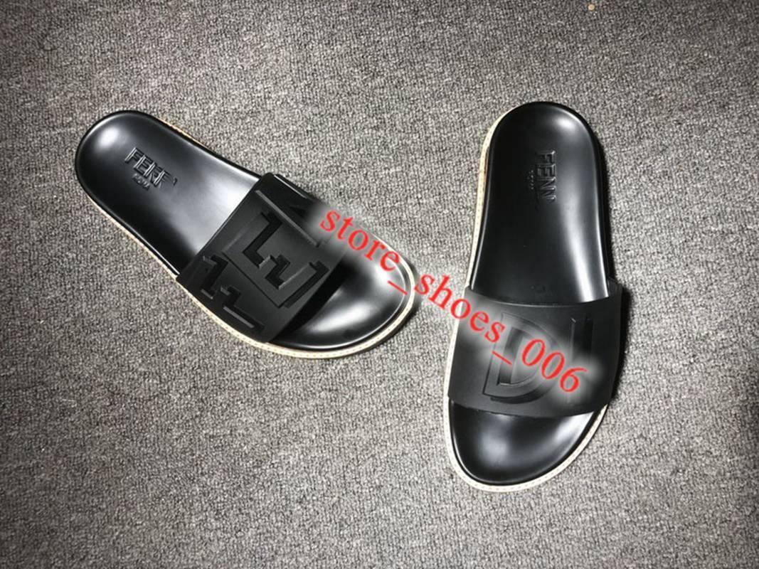 2020 xshfbcl Женщины из черного каучука Слайды Luxe конструктора Mens Сандал Мода Новый стиль Повседневная обувь Лучшие качества женщин Трусы Размер 36-45